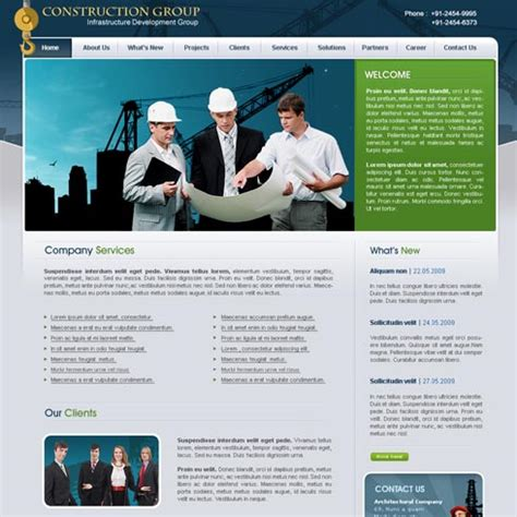 construction site templates construction web template 9 stylishtemplate