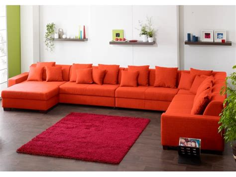 canape d angle orange
