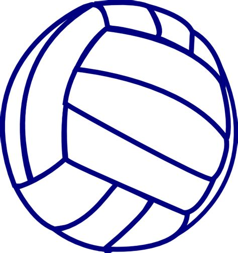 volleyball outline printable volleyball blue outline clip art at clker com vector