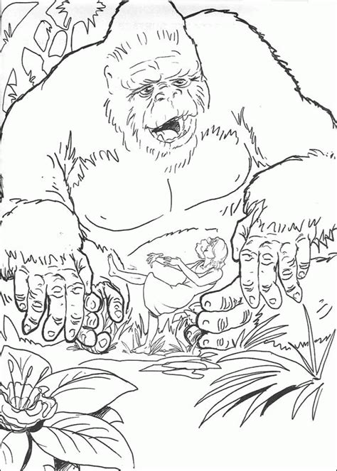 king kong coloring pages coloringpagesabc com