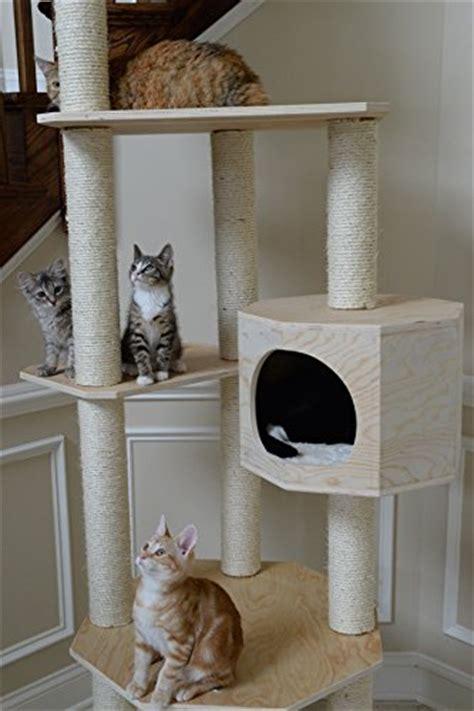 armarkat premium scots pine solid wood cat tree  tall