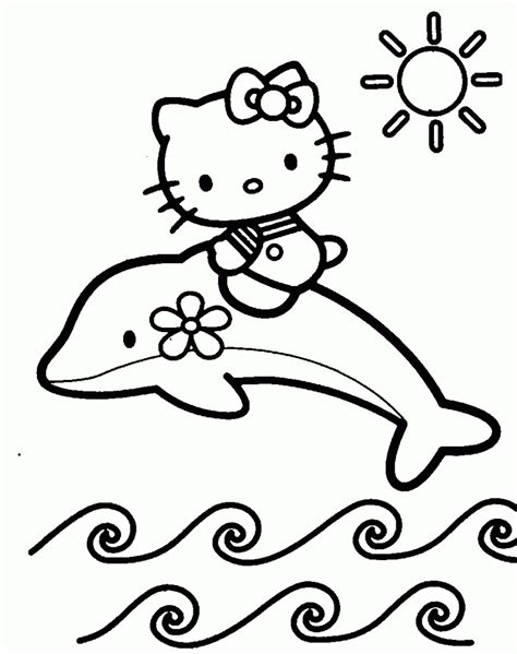 Hello Kitty Coloring Pages Only | free printable hello kitty coloring pages for kids