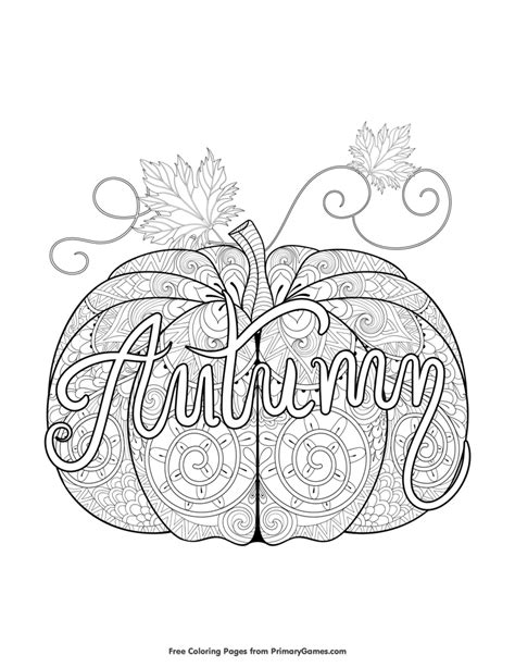 free pumpkin coloring pages for adults fall coloring page autumn pumpkin zentangle fall
