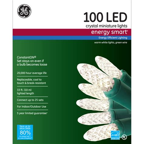 ge s energy smart colorite led miniature lights general electric energy smart 174 100ct led crystal miniature