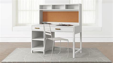 Suzuki Family Support Desk by Parke White Desk And Hutch Crate And Barrel