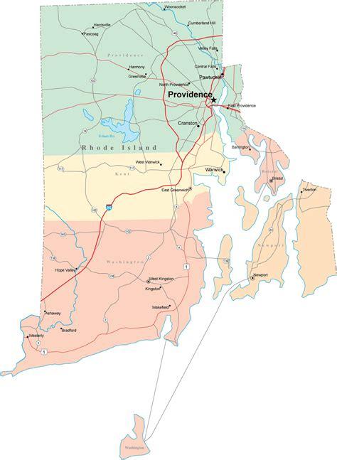rhode island on map rhode island road map rhode island mappery