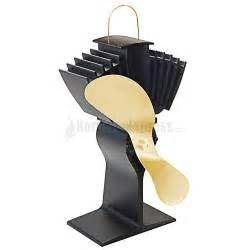 heat fan for wood stove ecofan airmax heat powered wood stove fan gold colored