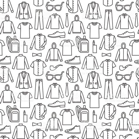 pattern shirt vector endless clothes background stock vector art more images