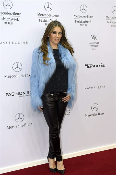 Liz Hurley In Brittish In Style by Elizabeth Hurley Style Marc Cain Show At The Mercedes