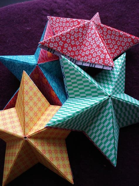 Folded Paper Decorations - diy origami for ornaments cq