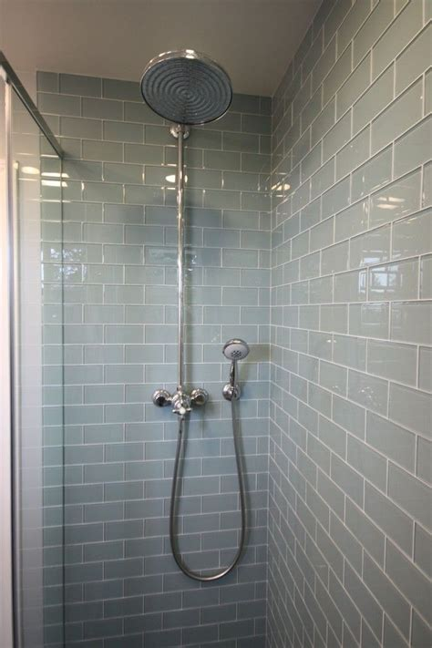 smoke glass subway tile contemporary bathrooms grey and