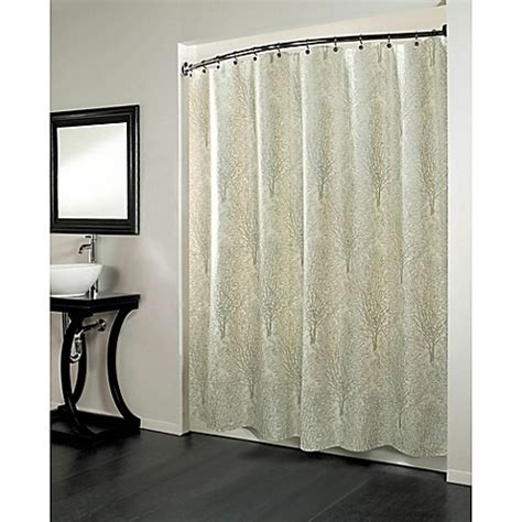 84 inch shower curtain buy forest 70 inch x 84 inch fabric metallic print shower