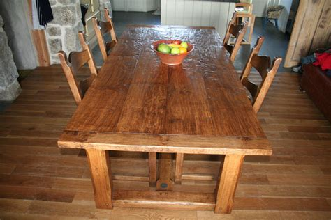 Handmade Oak Tables - cornish handmade oak refectory table quercus furniture