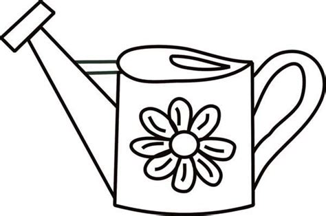 watering can coloring page coloring pages ideas