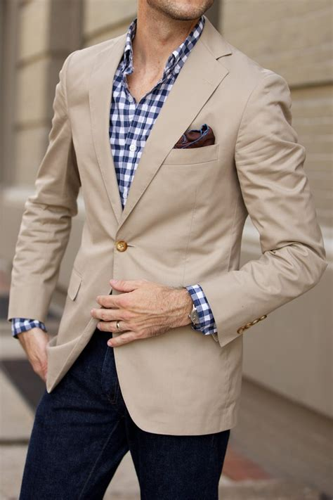 Navy Blue Bathroom Ideas by Casual Khaki Blazer He Spoke Style