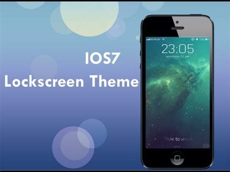 themes lockscreen iphone cydia cydia ios 7 lockscreen theme youtube