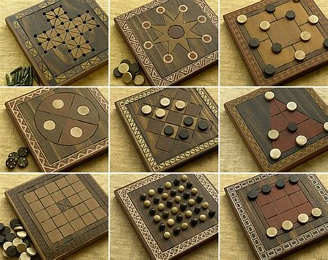 Diy Wooden Games by Brettspiel Found Games 42 Ancient Abstracts
