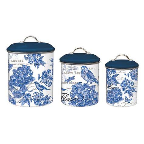 3 piece kitchen canister set michel design works kitchen 3 piece canister set indigo