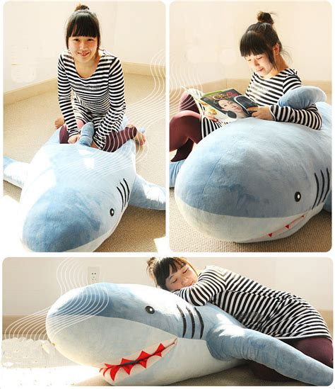 giant shark pillow 71 quot 1 8m giant huge shark stuffed animal plush soft toy