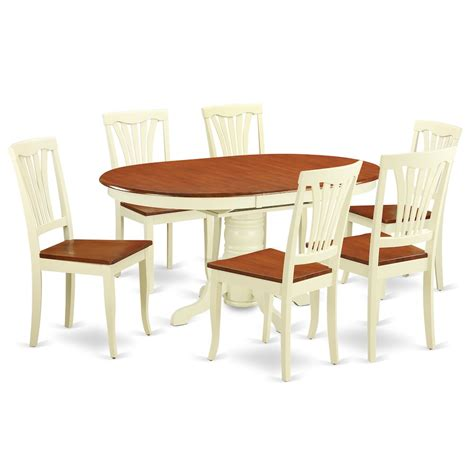 7 pc dining table set 7 pc dining set oval dining table with leaf and dining chairs