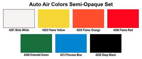 opaque color find automotive custom paint kits and auto air colors