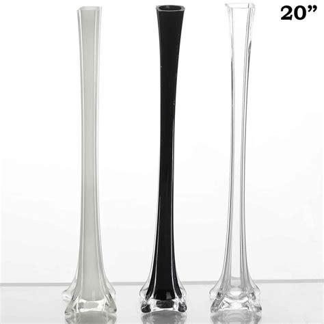 20 quot black eiffel tower vases 12pc efavormart