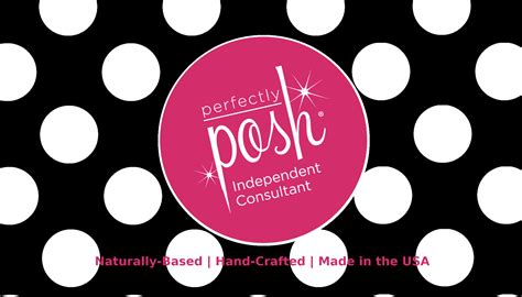 perfectly posh business card template posh by my own business tools
