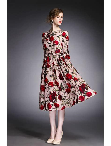 Retro Dress vintage retro floral print formal dress