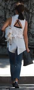 Top Sabria Blouse Out Cut Salem cara santana looks chic in a sleeveless button in beverly daily mail