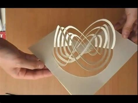 spinning card template easy way to make a magic spinning kirigami card tutorial