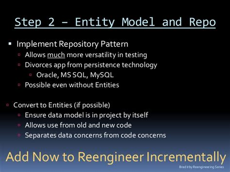repository pattern service locator software reengineering for developers