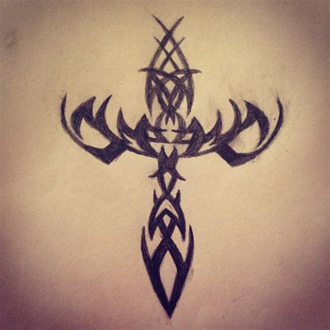 epic tribal tattoos tribal cross epic tat ideas cross