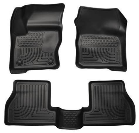 husky liners weatherbeater black front back seat floor