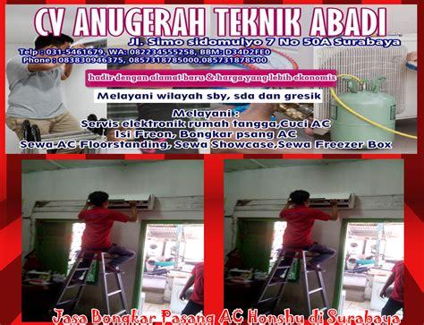 Ac Honshu service layanan repair perbaikan bongkar pasang cuci