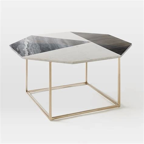 coffee table marble marquetry marble coffee table west elm