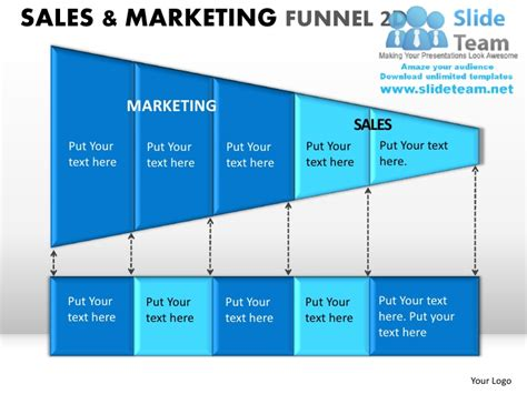 marketing pipeline template sale and marketing funnel 2d powerpoint presentation