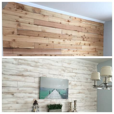 how to whitewash wood panel walls white washed wood wall made from cedar fence boards nap