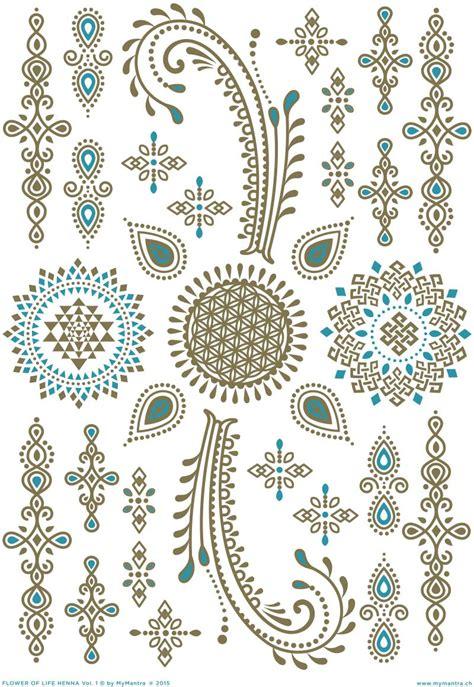 flower of life henna vol 1 my mantra golden enrergy tattoos