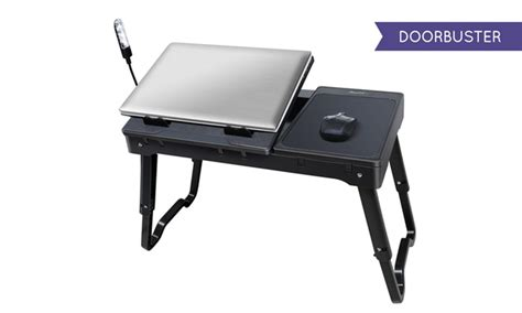 laptop desk with light multifunctional laptop table stand with cooling fan and