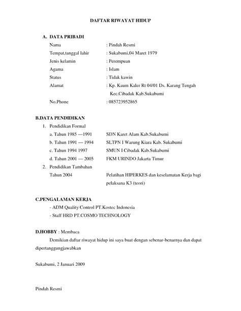 format daftar riwayat hidup simple 18 format daftar riwayat hidup ben jobs