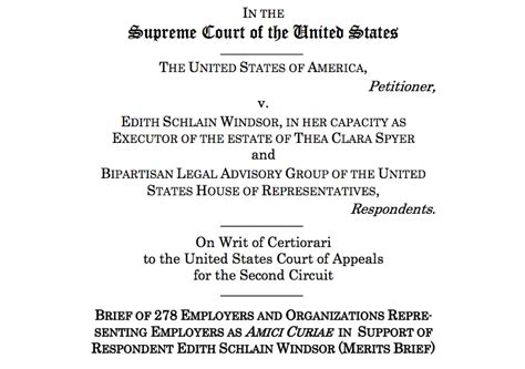 Supreme Court Brief Briefformat Nearly 300 Employers Urge Supreme Court To Strike Doma Metro Weekly