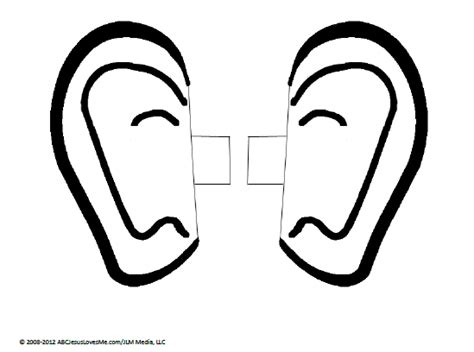 Ears Template free coloring pages of listening ears