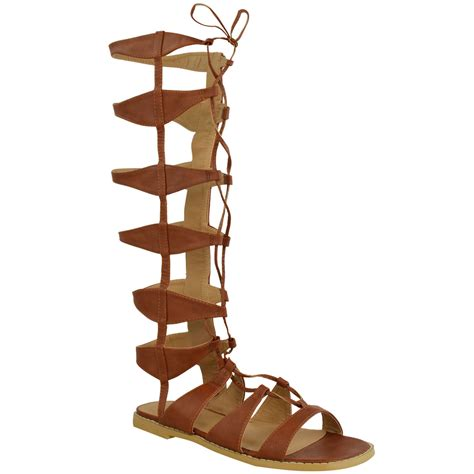 gladiator boots womens flat knee high gladiator sandals strappy