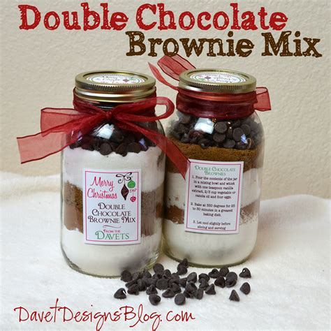 craft ideas and more from davet designs 7th day of christmas in a jar double chocolate