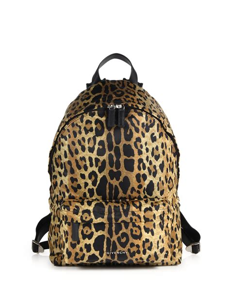 Leopard Print Backpack lyst givenchy small leopard print backpack