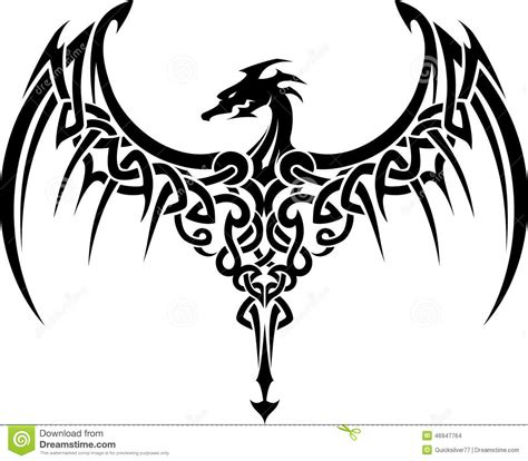 celtic dragon tattoo stock illustration illustration of