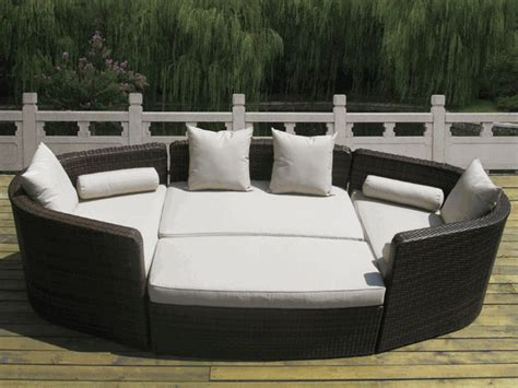 Outdoor Furniture Daybed Beautiful Outdoor Patio Wicker Furniture Mixed Brown Seating Daybed Sofa 4 Pc Set
