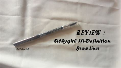 Silkygirl Hi Definition Brow Liner review silkygirl hi definition brow liner 02 brown