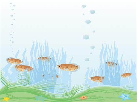 Aquarium Powerpoint Templates Animals Wildlife Blue Aquarium Ppt Templates Free