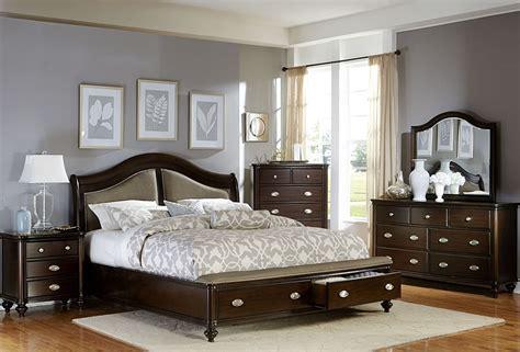marston dark cherry platform storage bedroom set
